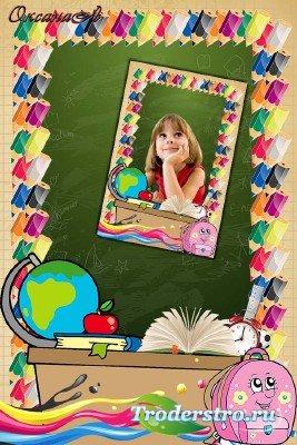 Фоторамка школьная  с карандашами – Звенит последний звонок