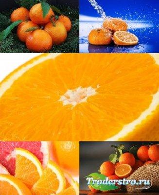 Обои с яркими апельсинами украшение рабочего стола