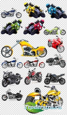 Клипарт - Техника спортивные мотоциклы байки на прозрачном фоне