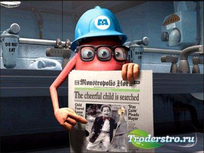 Рамка для фотошопа - Корпорация монстров ищет веселого ребенка