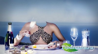 Женский фотошаблон-вечерний ужин