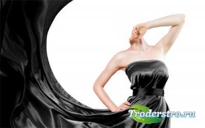 Шаблон для девушек - В вечернем черном платье