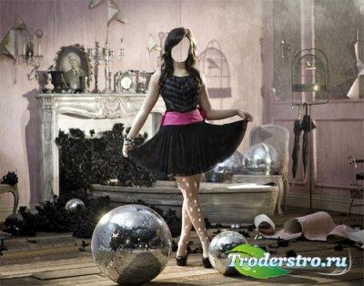 Шаблон женский - Необычная фотосессия девушка в красивом платье
