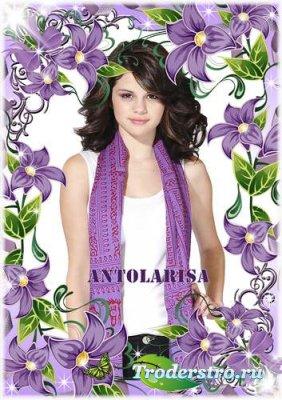 Цветочная рамка для фото – Фиолетовое настроение