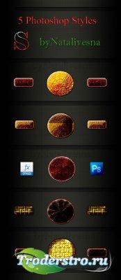 Стили для Дизайна – Красно - золотой цвет