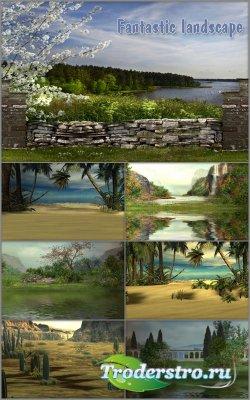 Фоны для фотошопа - Сказочный пейзаж
