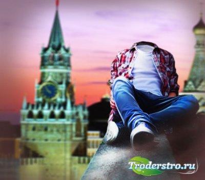 Фотошаблон для мужчин-на высоком здании