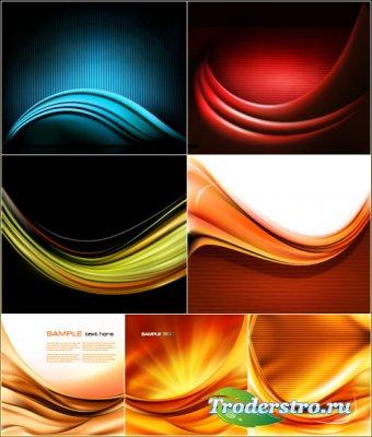 Абстрактная цветная волна (Вектор)