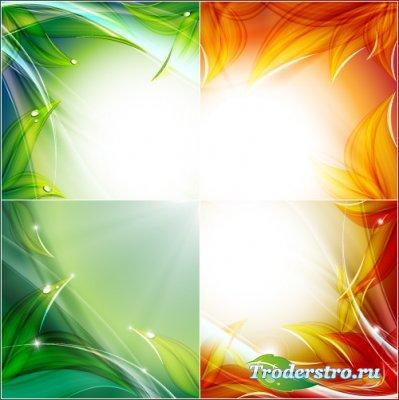 Огненные и зеленые (Вектор)