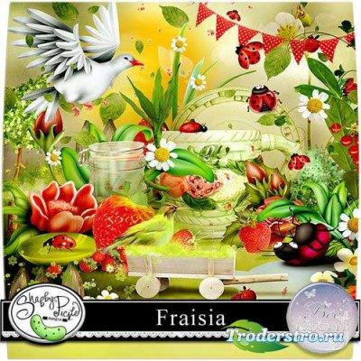 Цветочно-ягодный скрап-комплект - Фрайзия