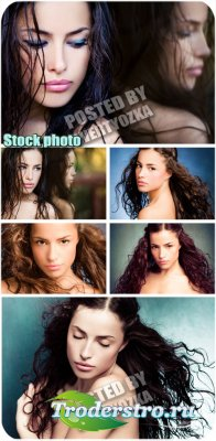 Загадочная девушка / Mysterious girl - stock photos
