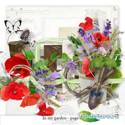 Цветочный скрап-комплект - В моем саду