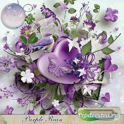 Комплект для скрапбукинга - Пурпурный дождик