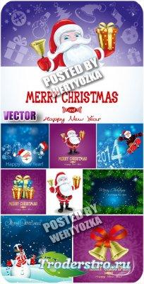 Санта клаус с подарками / Santa Claus with gifts - vector stock