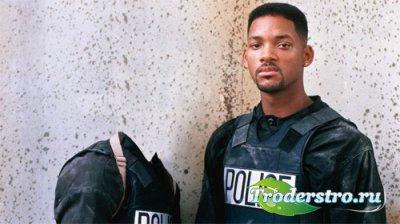 Шаблон мужской - В полицейской форме с Will Smith