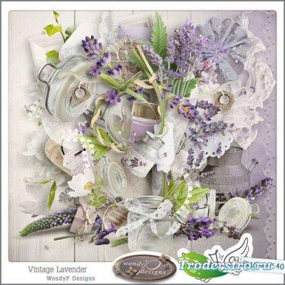 Прекрасный цветочный скрап-комплект - Лаванда