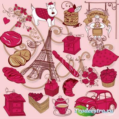 Клипарт - Ах, Париж... psd files