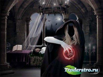 Шаблон для фото - Ведьма и колдовство