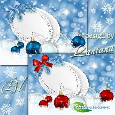 PSD исходник - Добрый праздник Новый год 4