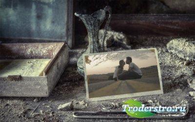 Рамка для фотошоп - Старые теплые воспоминания
