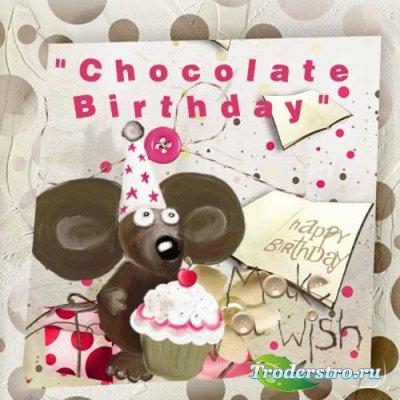 Детский скрап-комплект - Шоколадный День Рождения