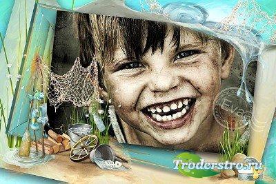 Детская рамка для фото - Веселое детство