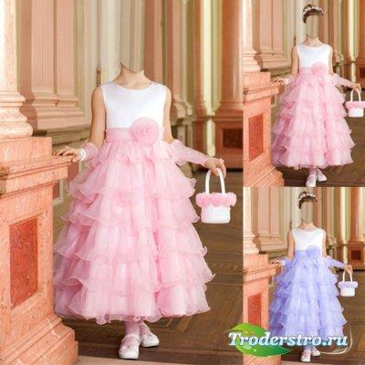 Шаблон для девочек - Принцесса в нарядном платье