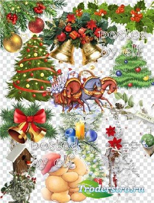 С новогодним настроеньем, c новогодним торжеством - клипарт в png