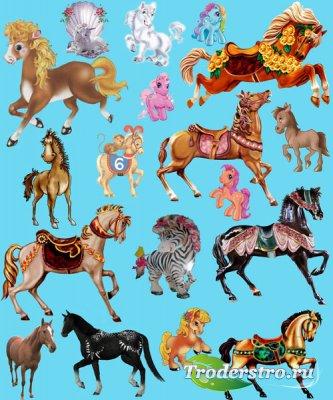 Клипарт - Сказочные лошади