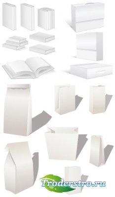 Белая книга, учебники и пакеты (Вектор)