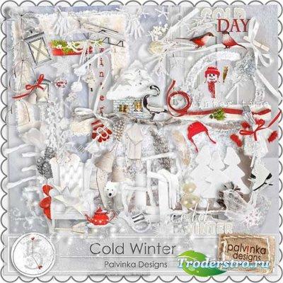 Прекрасный зимний скрап-комплект - Суровая зима