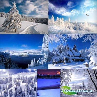 Клипарты для фотошопа - Заснеженная зима