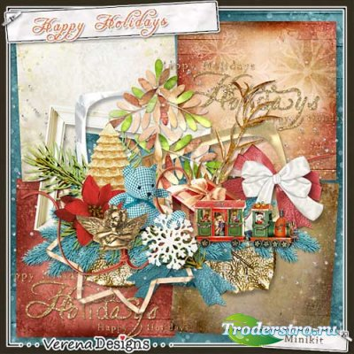 Зимний скрап-комплект - Счастливых праздников