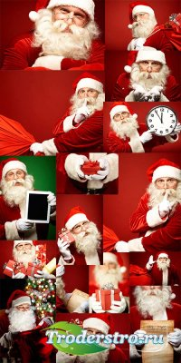 Сборник клипартов Санта Клаус 25 шт