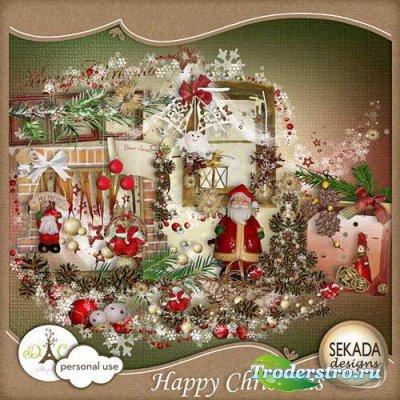 Прекрасный рождественский скрап-комплект - Счастливого Рождества