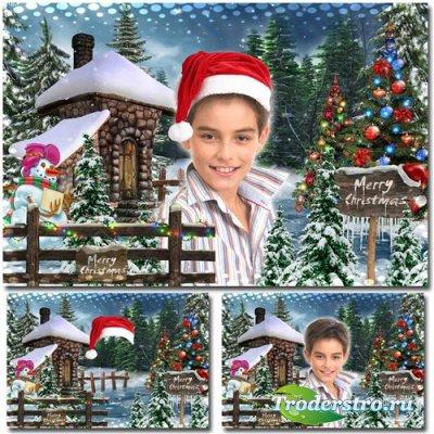 Праздничная рамка для фотошопа – Рождественские истории