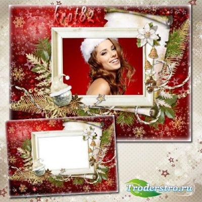 Зимняя рамка для фото – Прекрасные воспоминания