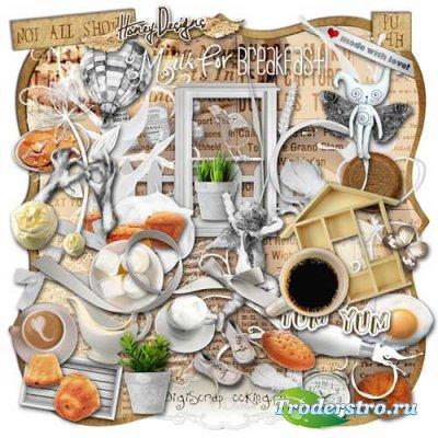 Скрап-комплект - Молоко на завтрак