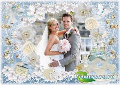 Свадебная рамка для фото - Любовь будет нашей крепостью