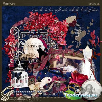 Романтический скрап-комплект - Навсегда