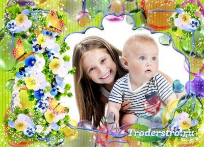 Детская рамочка - Весенняя нежность цветов