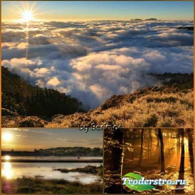 Мифические лучи солнца в превосходной природе