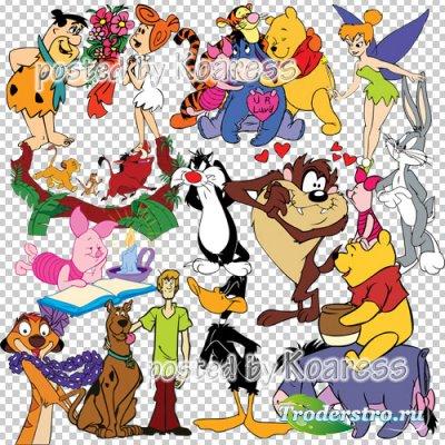 Детский png клипарт для фотошопа на прозрачном фоне - Герои любимых мультфи ...