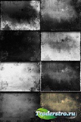 Черно-белый гранж