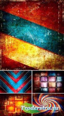 Набор цветных гранжевых фонов