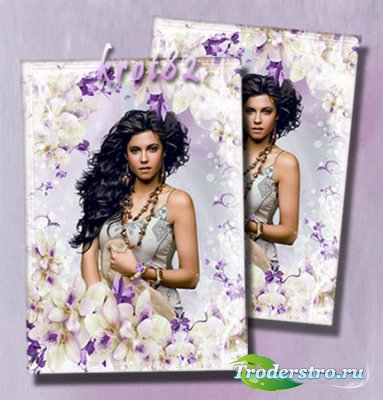 Нежная цветочная рамка для фото — В окружении цветов