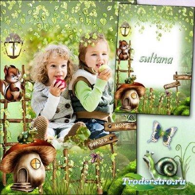 Детская рамочка для фото - В сказочном лесу