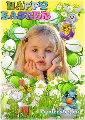 Детская пасхальная рамочка - Счастливой Пасхи