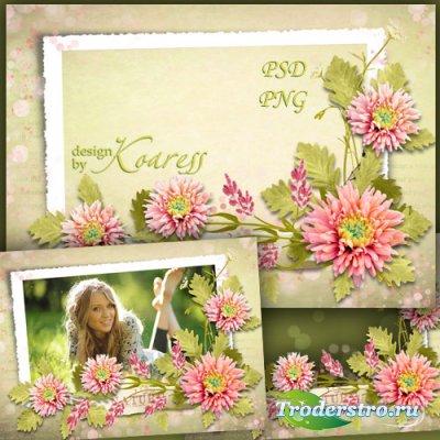 Рамка для фото с летними цветами - Любимые цветы