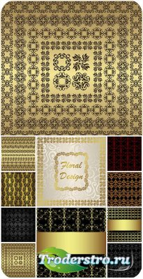 Узоры, орнаменты, винтажные векторные фоны / Patterns, ornaments , vintage  ...